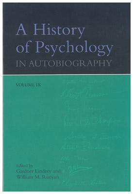 A History of Psychology in Biography